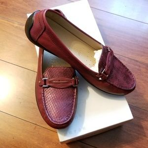 Geox Respira Loafers Burgundy /Red Size 39